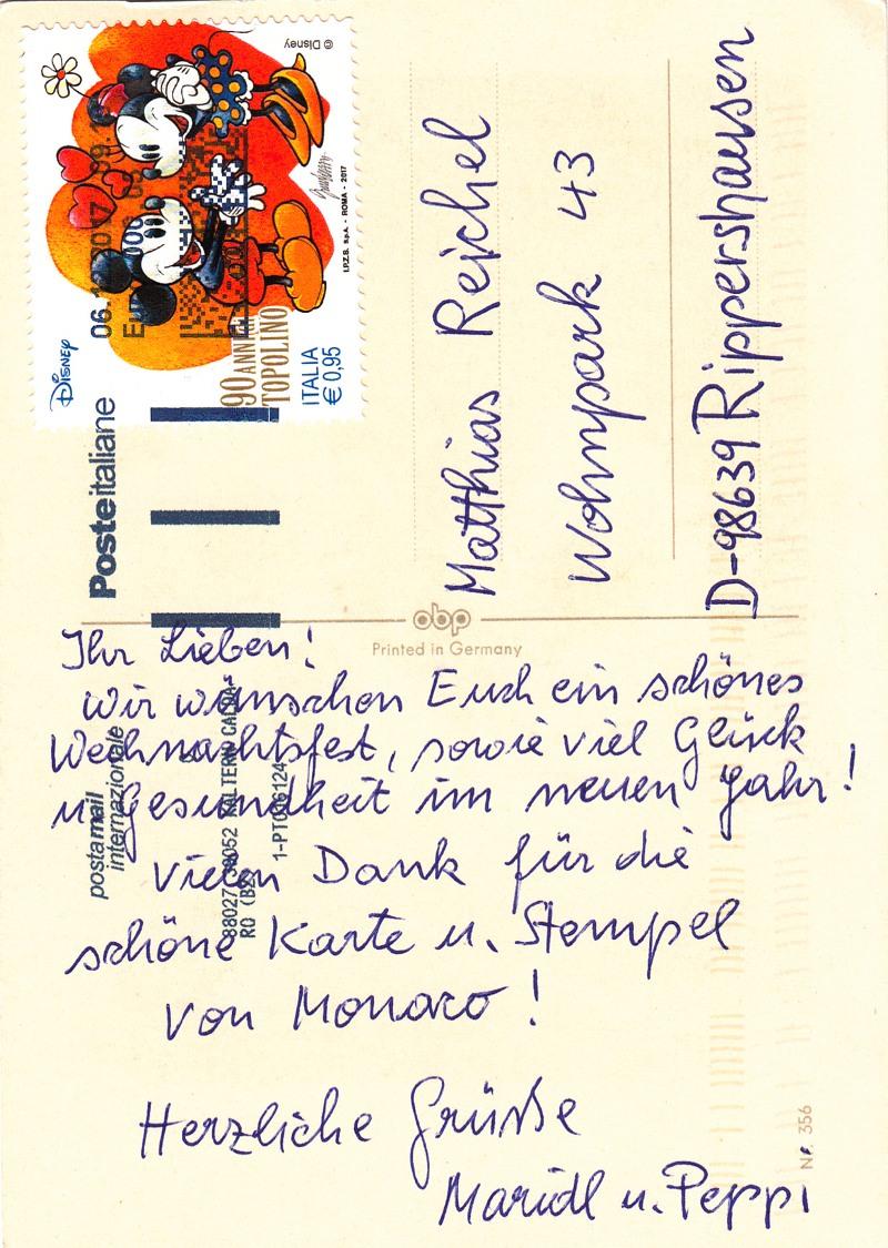 Weihnachtsgrüße Text Familie.Meininger Briefmarkensammlerverein E V